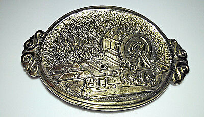 1979 A B DICK Belt Buckle The Great American Company Brass Vintage BL