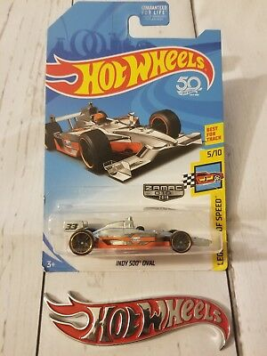 2018 Hot Wheels #010 Zamac Legend ofSpeed 5/10 Gulf INDY 500 OVAL Zamac