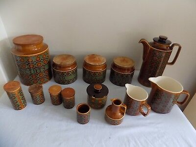 Collection Vintage Hornsea Bronte Pottery 1974-78 14 Pieces Total All Excellent