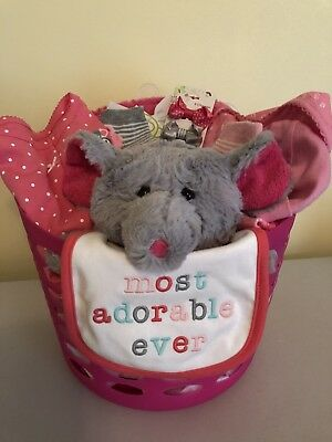 Baby Shower Girl's Mouse Gift Basket