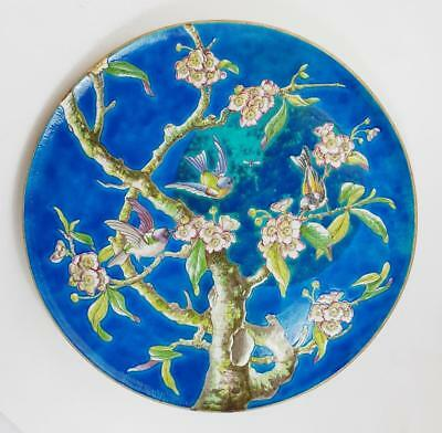 Stunning FRANCO-JAPANESE CERAMIC CHARGER c1885 Manner of LONGWY
