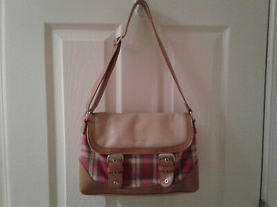 Longaberger khaki check purse or small tote.  Very good condition