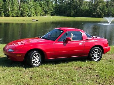 1996 Mazda MX-5 Miata LA '96 MIATA 60+ PAGES OF RECORDS SINCE NEW XTRA LOW MILES HARDTOP & LEATHER WOW