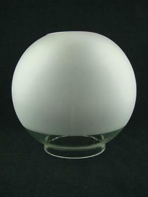 Original Veritas Frosted & Clear Glass Globe Duplex Oil Lamp Shade 10.2Cm Fitter