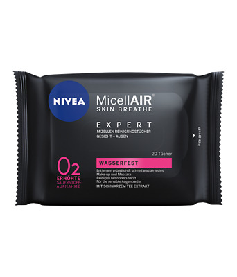 Nivea Micellair® Skin Breathe Expert Micro-Cleaning Wipes - 20 Wipes (2 Packs)