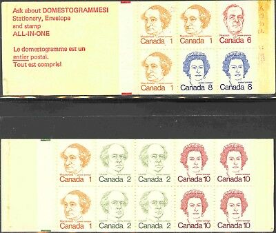 1972-76 Canada Mint Never Hinged Caricature Issue Booklets #74 & #76