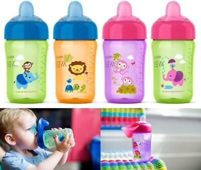 Avent My Sip N Click Sippy Cup No Spill Bottle Different Colored 2 Pack 12 Ounce