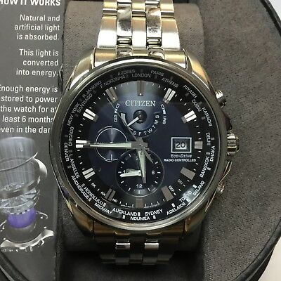 Citizen Men's 44mm Eco Drive World Time Atomic Watch -  AT9030-80L