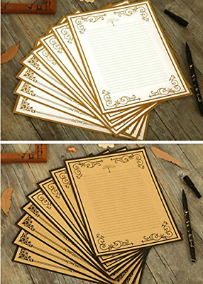 IMagicoo 50 Cute Design Writing Stationery Lined Paper Pad Letter Set 2 Different Style Style-2
