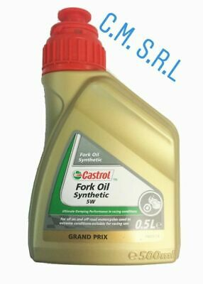 Olio Castrol Racing Forcelle Moto Synthetic Fork Oil 5W 0.5Lt
