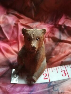 Small Carved Bear, Black Forest Style