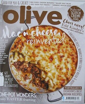 Olive Magazine April 2017  New - Mac'n'cheese Reinvented Issue