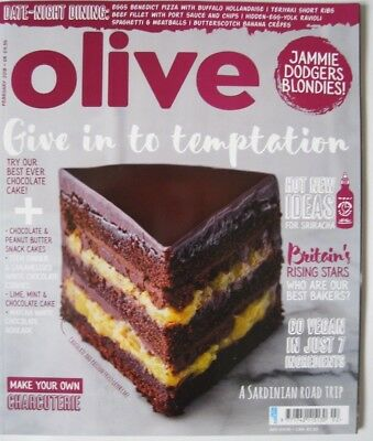 Olive Magazine February 2018  New - Give In To Temptation Issue