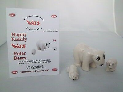 Wade Happy Family Polar Bears - Membership 2015 -  Excellent Condition