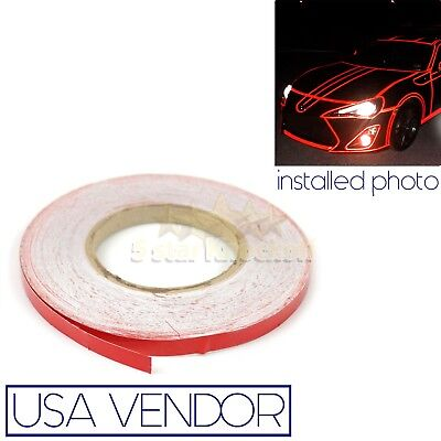 Safety First! 1Cm X 45M Roll Red Jdm Usa Reflective Tape Stripe For Cars/trucks