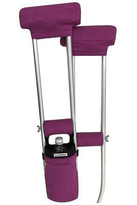 Pink Heather Crutch Combo Set Accessories (2 Armpit, 2 Hand Pads, 1 Crutch Bag)