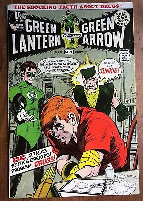 Green Lantern/Green Arrow #85 & #86 1971 Speedy is a Junkie/Drug Issues