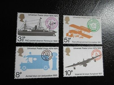 SG954-957 1974 Centenary of Universal Postal Union. Mint Never Hinged Stamp Set.