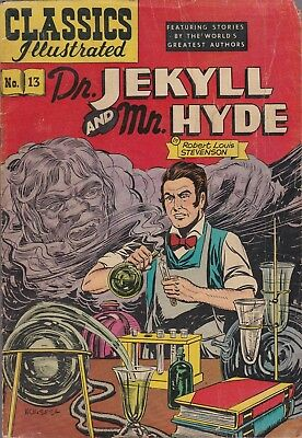 Classics Illustrated, Dr Jekyll & Mr Hyde #13 Gilberton. HRN 71 GD+