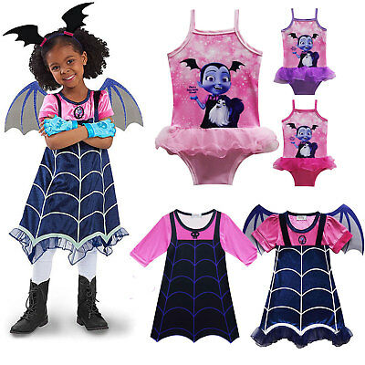 Vampirinas Cosplay Costumes Vampirina Dress Kids Party Dresses Halloween Outfit