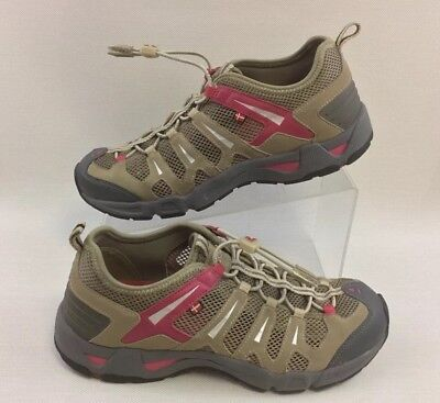 d3837e08e829 Women s Ecco Receptor Technology Brown Leather Sandals Water Shoe Mesh Size  40