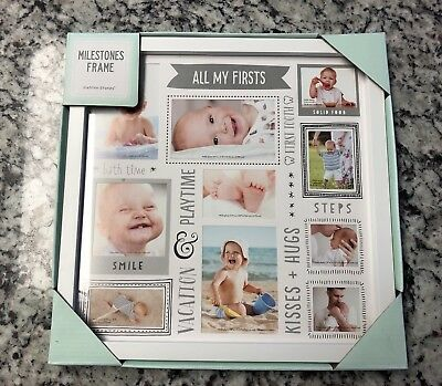Milestones Pictures Frame - Stepping Stones Memories My First Everything - New