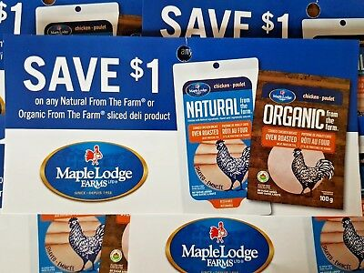 Coupons (10) Maple Lodge Farms Sliced Deli Meat (Canada Only)