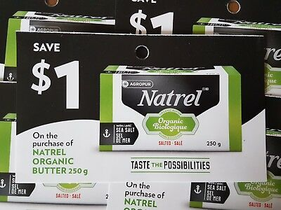 Coupons (10) Natreal Organic Butter (Canada Only)
