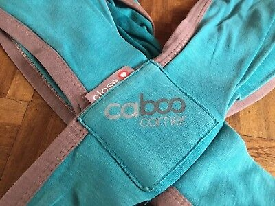 Close caboo organic cotton baby carrier