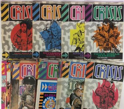 2000AD Presents CRISIS #1 to #57 near complete run (1988) JOBLOT 42 x issues