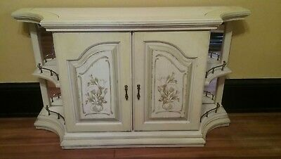 """Mid Century French Provincial White Buffet Server Sideboard Console Vintage 50"""""""