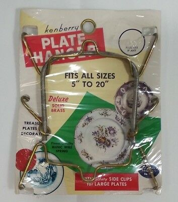 """Kenberry Plate Hanger fits 5"""" to 20"""" 1959"""
