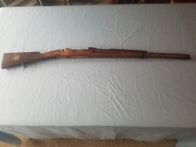 Swedish Mauser M96 Wood Rifle Stock With Brass Stock Disc & forearm