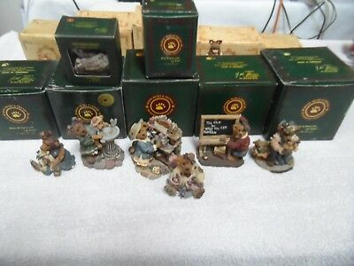 Lot of (7) Boyds Bears Resin Figurines Mint In Boxes!!!