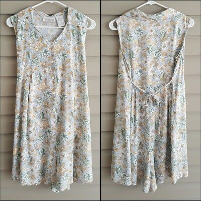 Oh! Mamma women's maternity size Small light blue pastel floral button up romper