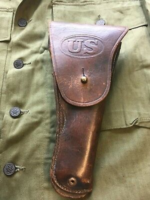 WW2 US M1916 Leather Flap Holster For Colt 1911 SEARS Military