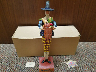 2004 Jim Shore Thanksgiving BOUNTY Pilgrim Man With Basket Figurine 117657