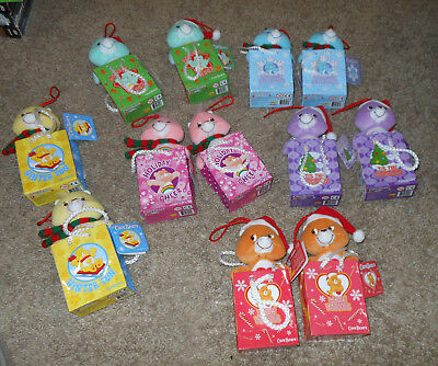 Small Holiday Care Bears In Gift Bags, 12 Total, New, Must See, L@@k!!!