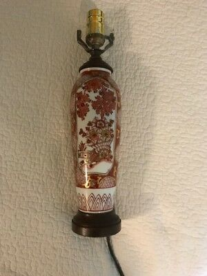 IMARI Lamp Red Design Made in Japan Lamp Authentic Imari