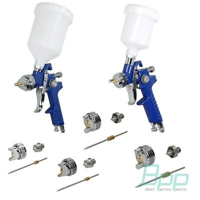 HVLP SPRAY GUN 100/600ml CUP AIR PISTOL CAR PAINT 0,5/0,8/1,4/1,7/2,0 mm NOZZLES