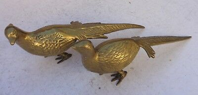 Pheasant Figurines Brass 12 Inches Long