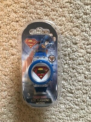 Superman Boys LCD Watch New!