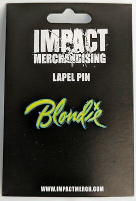 "Authentic LIMITED EDITION Blondie Band Logo Enamel Lapel Pin 1.25""  COLLECTIBLE"