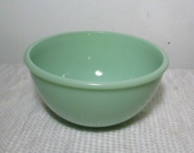 Vintage FIRE KING Jadeite 1.5 QT BEADED Edge Mixing BOWL Anchor HOCKING Glass