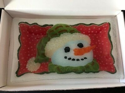Peggy Carr Glass Tray - Snowman