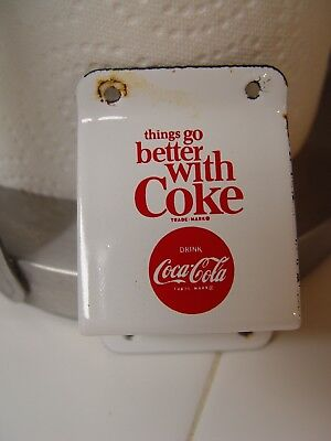 Things Go Better With Coke Porcelain Coca-Caol Advertising Bottle Opener TGBWC
