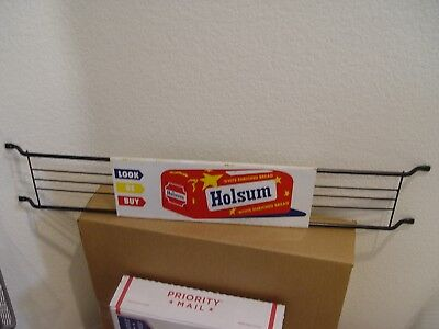 "Vintage 30"" Long Holsum Bread Stout Sign Co. Advertising Door Push Bar Sign"