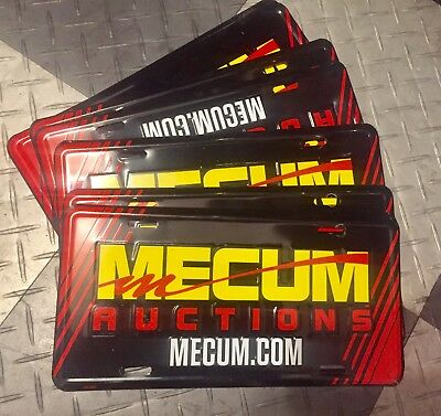 Mecum Car Auction Muscle Collector Aluminum License Plate/License Tag HARD 2 GET