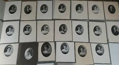 Large Lot Antique Photographs Singles Original Folders Early 1900's Photos