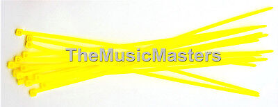"""100 Yellow 6"""" inch Wire Cable Zip Ties Nylon Tie Wraps 40lb USA Made Tiger Ties"""